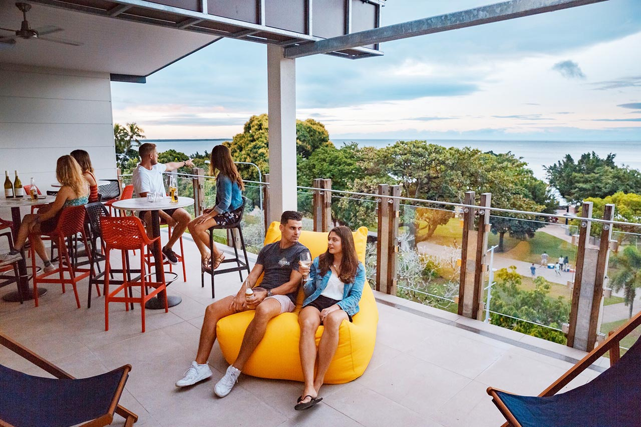 Global Backpackers Cairns Deck